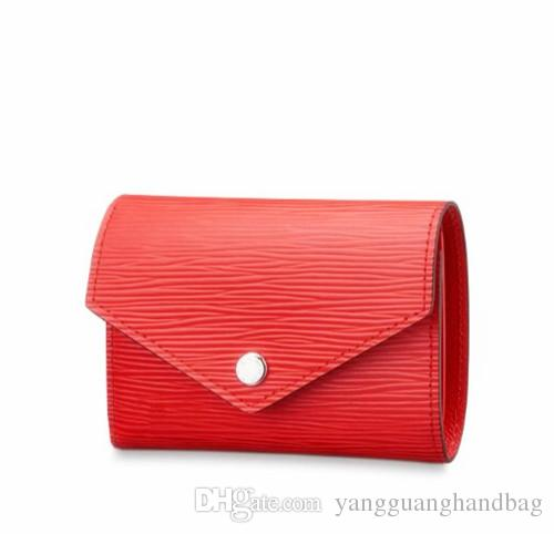 Top quality WALLETS brand new women genuine Leather wallet short clutch purse small bag style design handbags