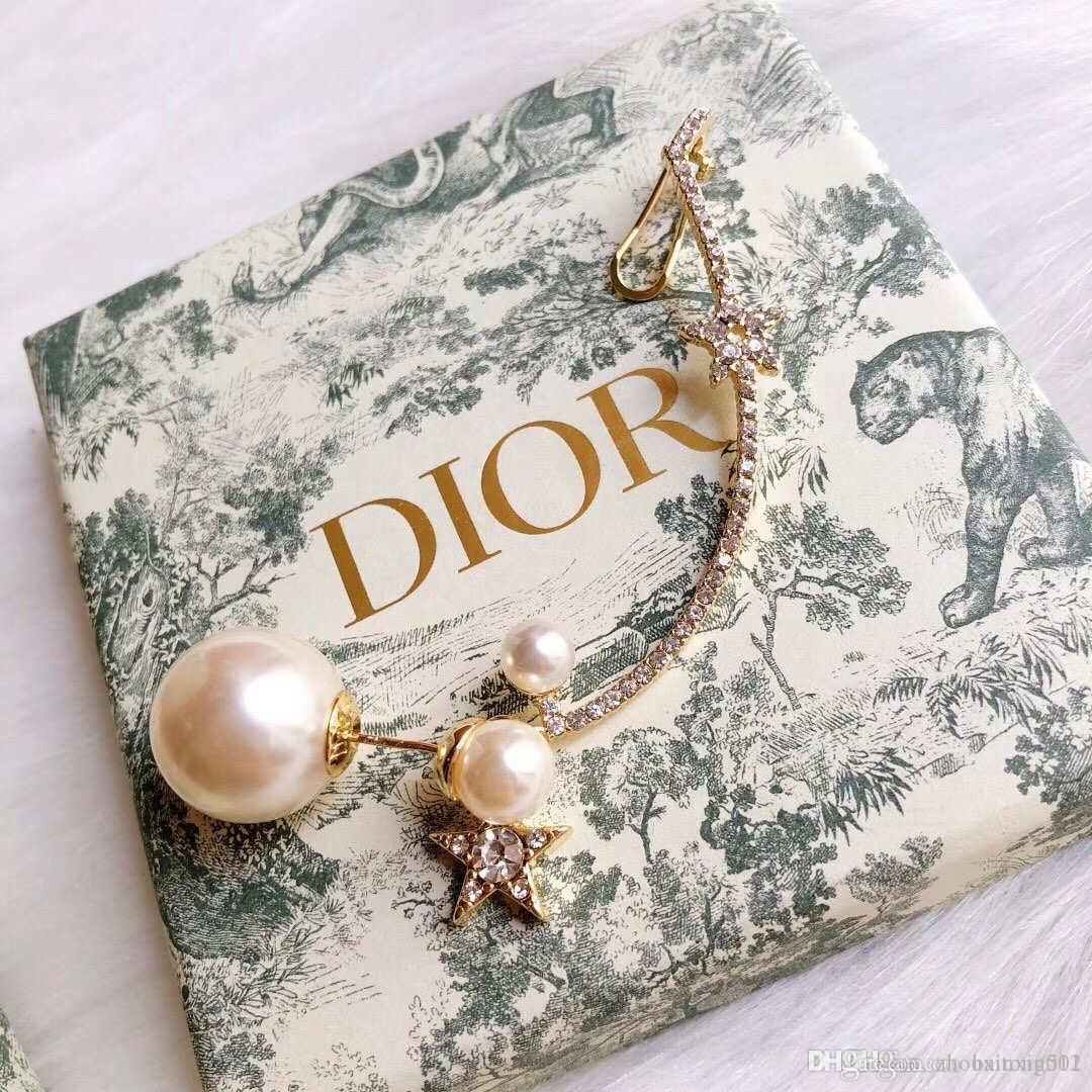 Luxury fashion letter channel ladies earrings earrings ear clip ear clip party jewelry accessories