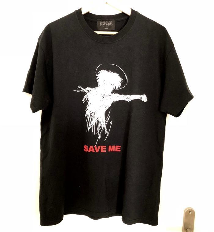 Summer Mens T Shirts REVENGE SAVE ME Slogan Doodle XXXTENTACION Fashion Long Sleeve Cotton Casual