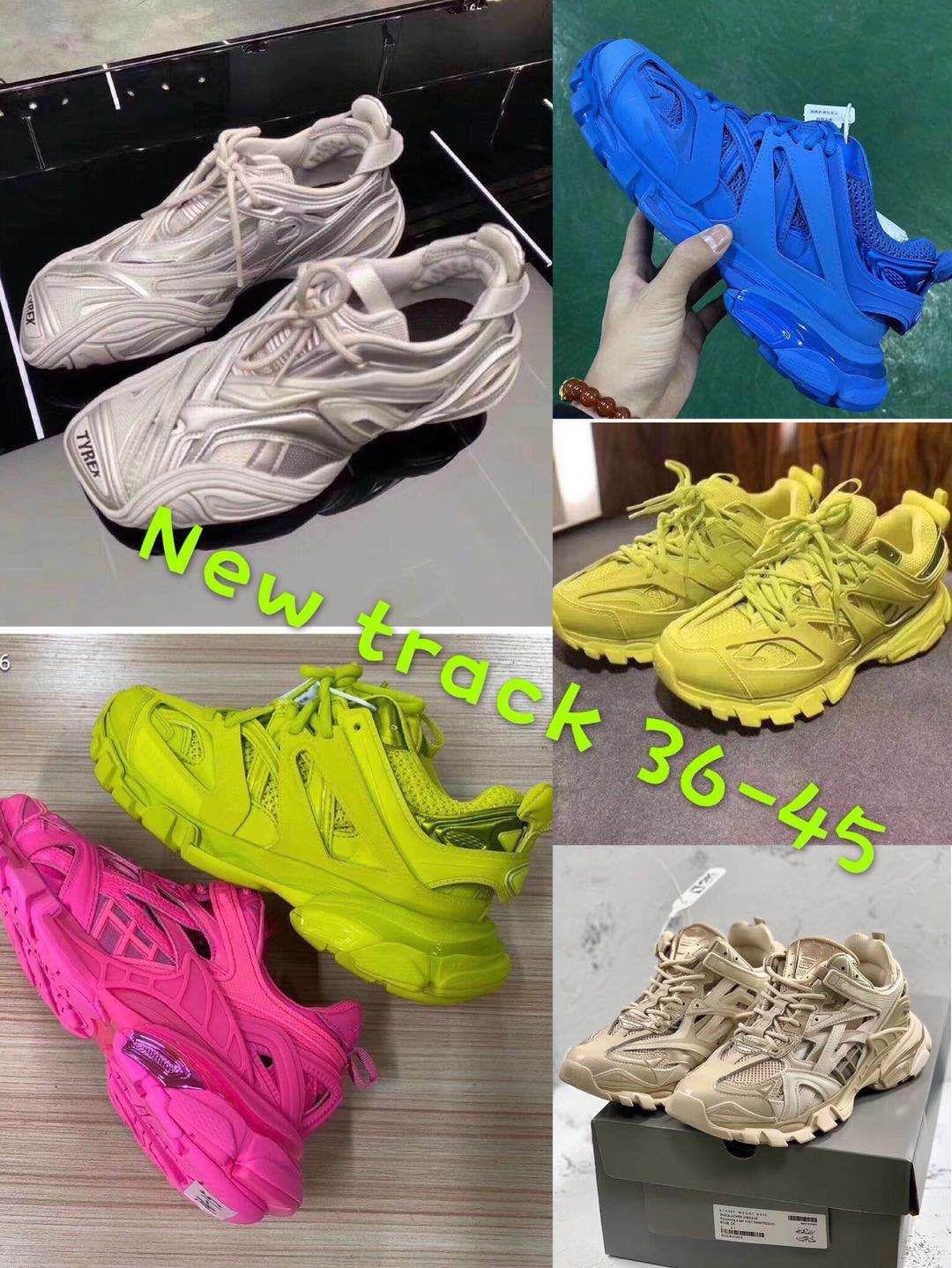 Release 4.0 Tess S Parigi uomini traccia gomma Maille nero Per le donne Triple S Clunky Sneaker Casual Shoes Hot autentica Shoe Designer