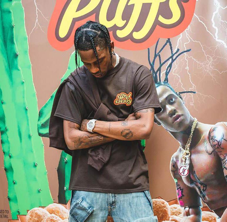 Genießen Sie heute T-T-Shirt Männer Frauen NEW 2020Travis Scott x P uffs der R Eese 1a: 1 Qualitäts-Sommer-Art Travis Scott Astroworld T-Shirt