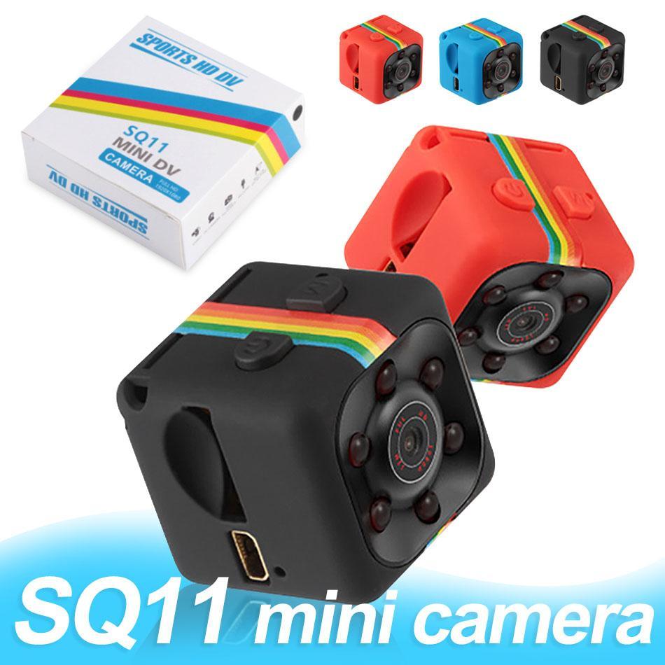 SQ11 Mini Micro HD Hidden Camera 1080P Sensore video Videocamera per visione notturna Micro Telecamere DVR DV Motion Recorder