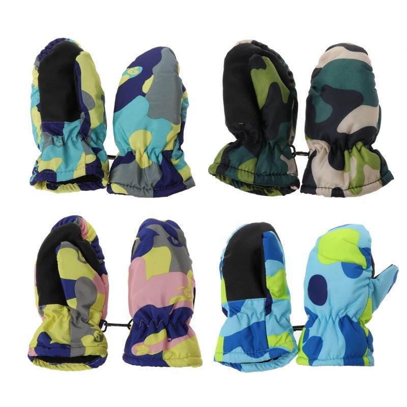 Winter Waterproof Warm Mittens Boy Girl Kids Children Outdoor Ski Gloves DXAA