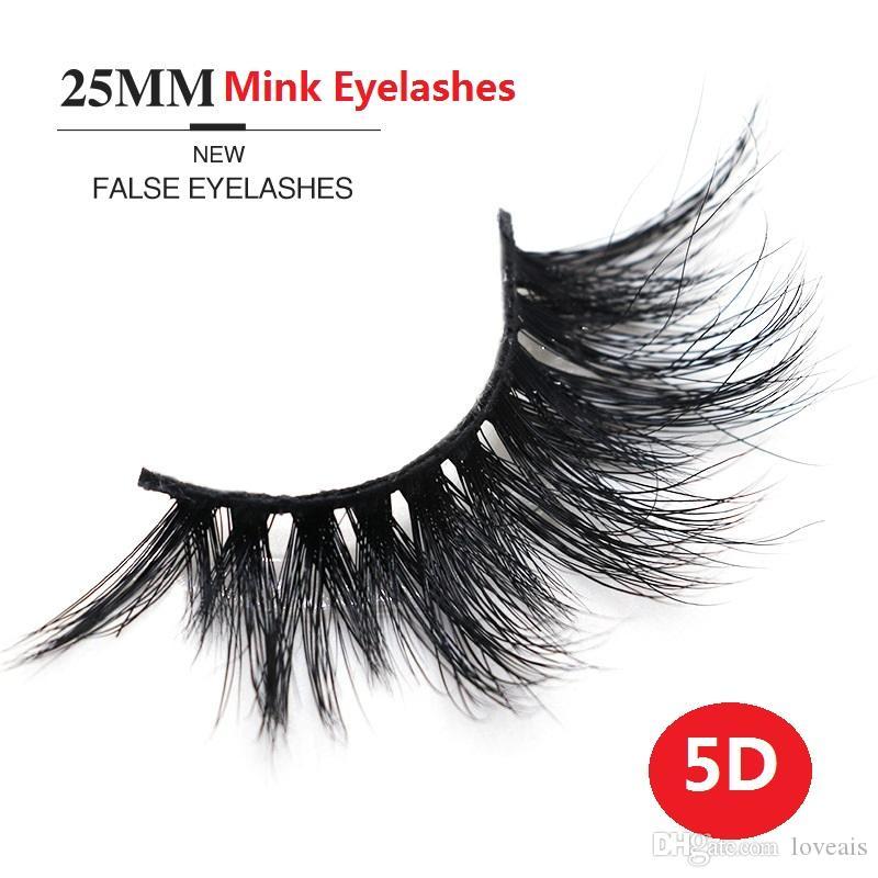 25MM 5D 밍크 속눈썹 전체 스트립 속눈썹 손으로 만든 밍크 가짜 속눈썹 Individul 패키지 속눈썹 소프트 천연 밍크 속눈썹 확장도 5d