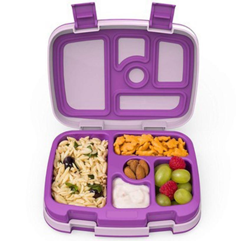 Bento giapponese di stile contenitore di alimento pranzo termica Box lolla di riso paglia di grano commestibile Scuola PP Bocce fast food Seperated Lunch Box