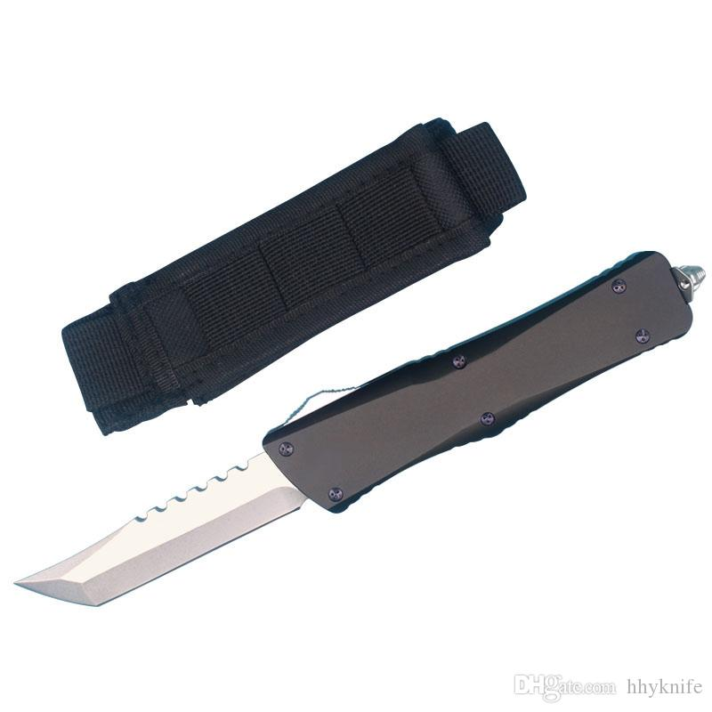 MT Marfione Custom Hellhound Blade Tactical Knife D2 Tanto Stone Washed Knifes Aviation aluminum Handle EDC Gear