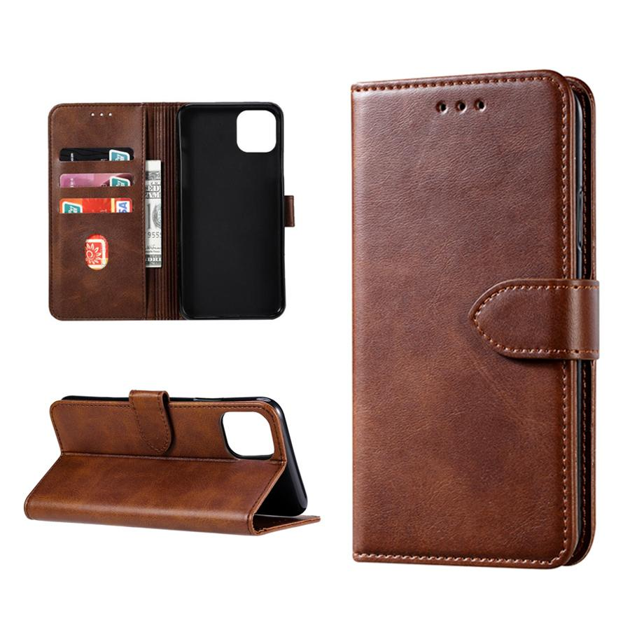 Para IPhone 11 12 PRO XS Max Carteira Caso retro Leather Flip telefone estar celular saco com cartão de crédito Slots