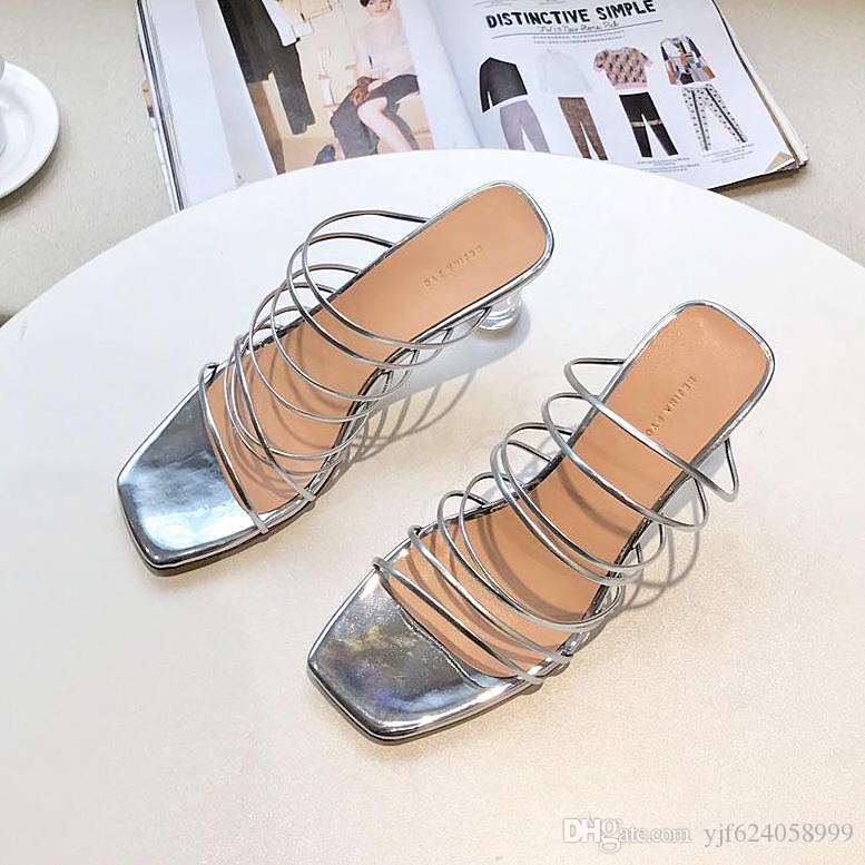 2019 Summer New Design Sandals Design Women'S Color High Heels Sandals High  Quality High Heels Ladies Dress Single Lace Box Loafers For Women Deck