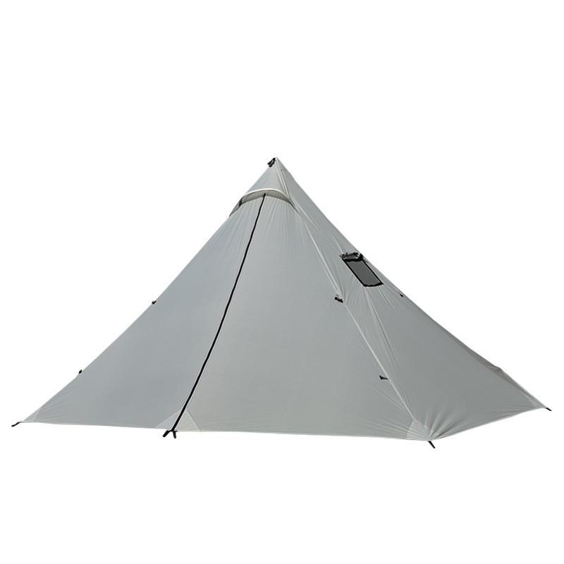 3-4 Persona Ultraligero acampar al aire libre tienda de los indios 20D Silnylon Pirámide Tienda Tienda grande sin vástago con mochila de senderismo Tiendas de campaña