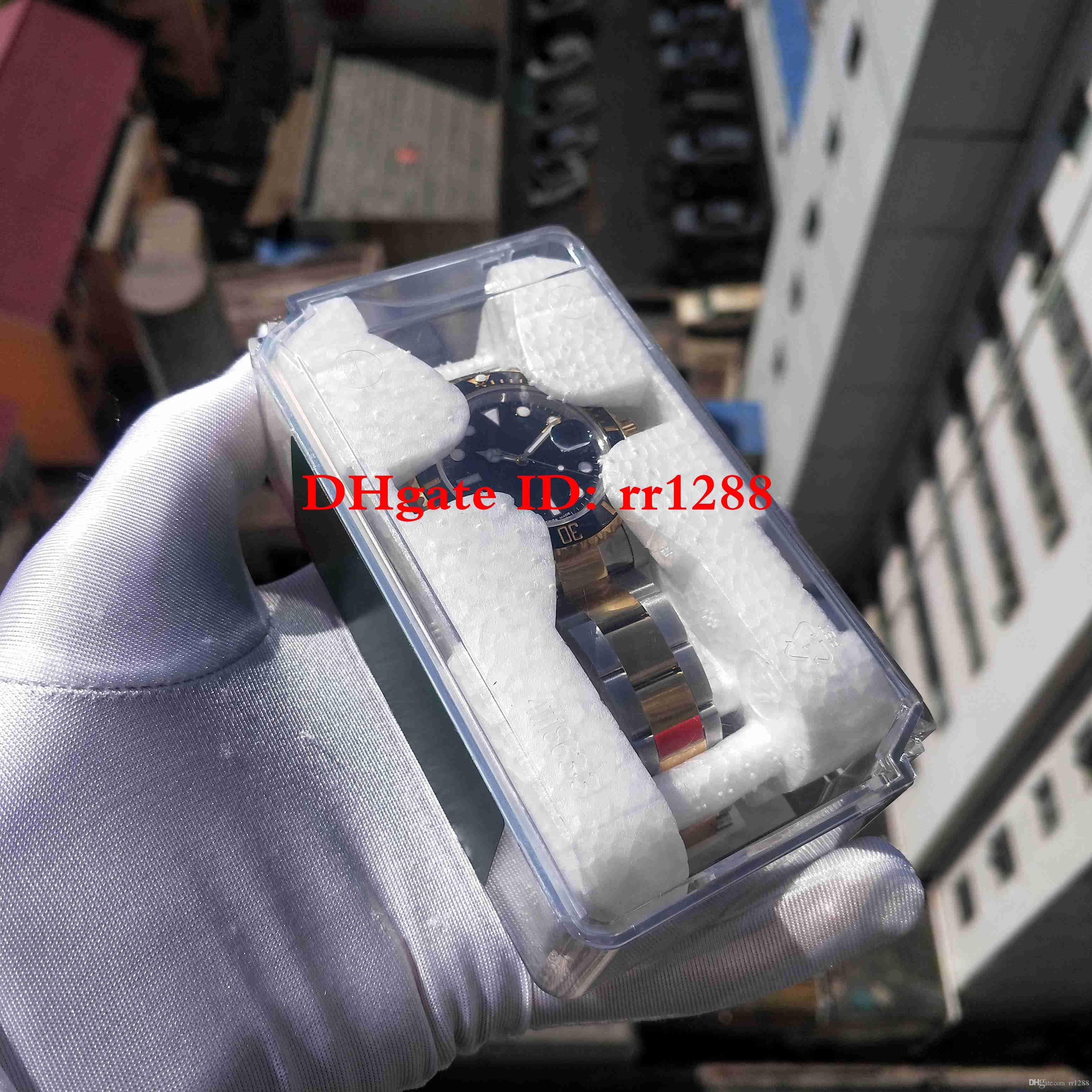 Süper N Fabrika İzle 116613LN 18 K 2813 Hareketi Seramik Çerçeve Safir Cam 40mm 116610 116613 Mens Saatler ile Yeni orijinal Plastik kutu