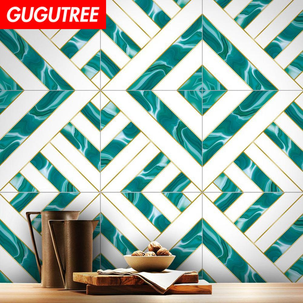 Decorate home 3D ceramic tile cartoon art wall sticker decoration Decals mural painting Removable Decor Wallpaper G-2486