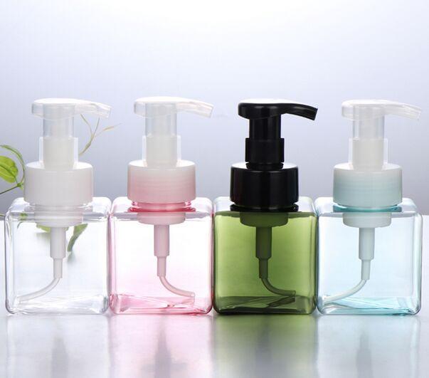 LLY Şişeler 250ML Plastik Sabunluk Şişe kare Şekil Köpük Pompa şişeler Sabun Mousses Sıvı Dispenser Köpük şişeler
