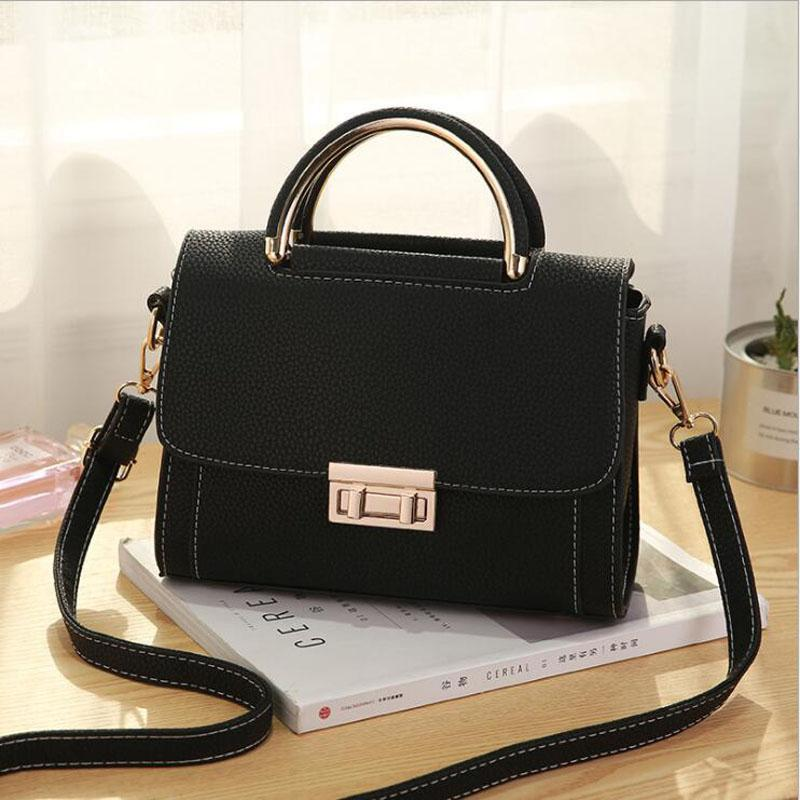 New female bags quality pu leather soft face women bag wild shoulder messenger bag Quilted shell bag pendant cute deer