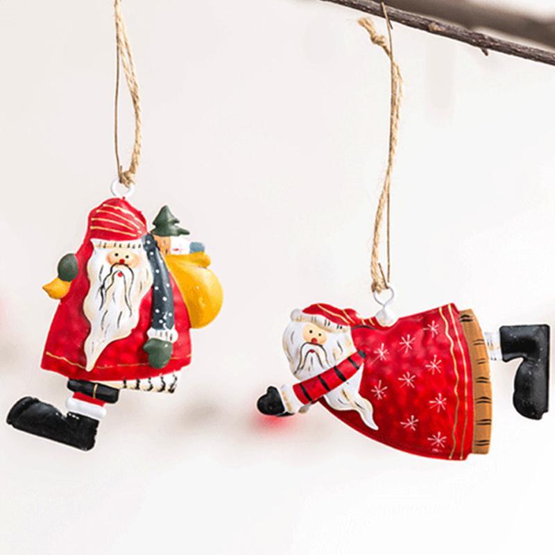 Babbo Natale Hanging Metallo Ferro Angelo Hanging sveglio di Natale del partito decorazione decorazioni Bella Natale decorativo