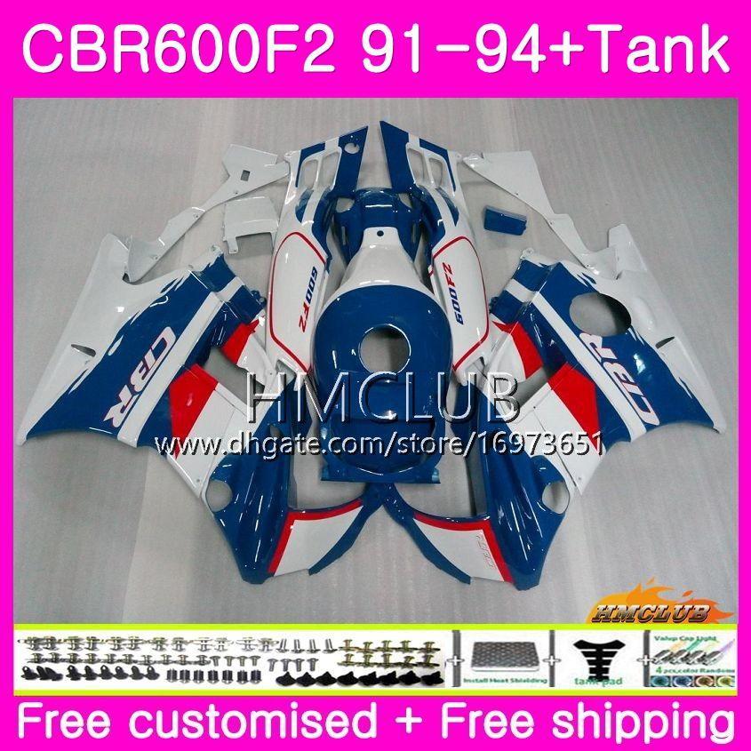 HONDA CBR 600F2 CBR 600 F2 FS 91 92 93 94 Soğuk Mavi Beyaz 76HM.16 CBR600 F2 CBR600FS CBR600RR CBR600F2 1991 1992 1993 1994 Fairing