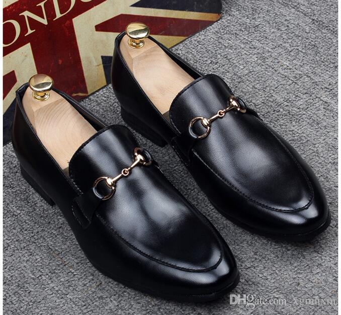 Haute qualité Performa Hommes concepteur Chaussures en cuir Casual Driving Oxfords Flats Chaussures Hommes Mocassins Mocassins Chaussures italiennes pour hommes Size37-45