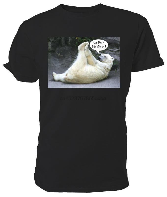 camicia Polar Bear T No Pain No Gain! FAUNA - Scelta di colore dimensioni! Cartoon uomini della maglietta unisex Il nuovo modo allentato maglietta