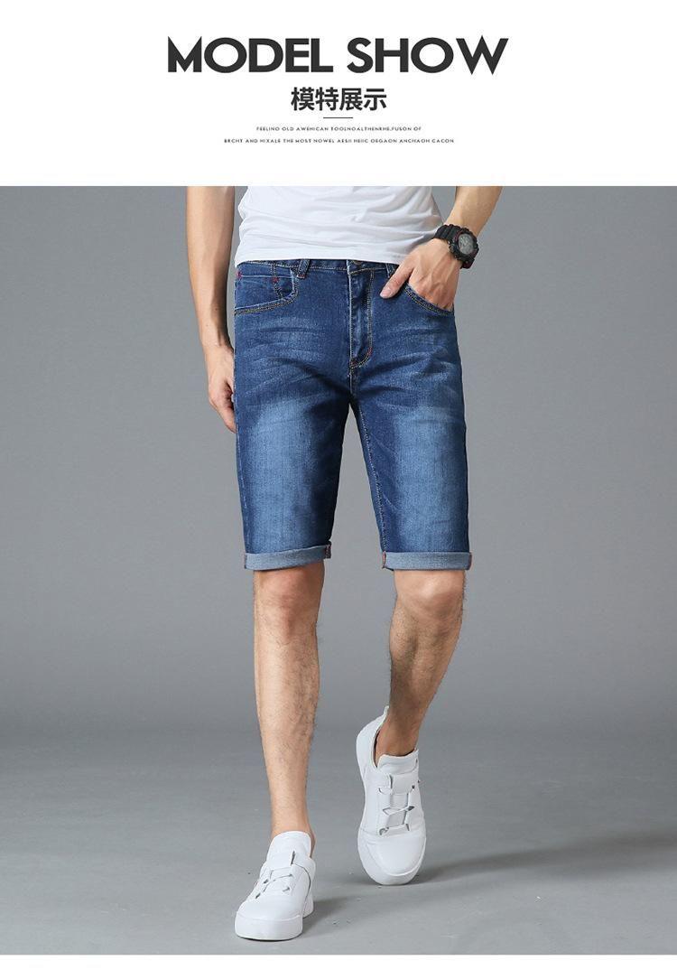 2020 del progettista del Mens di jeans blu denim jeans ginocchio lunghezza Jeans Shorts Pantaloni Plus Size 29 30 31 32 33 34 35 36 38 40 42 44 46