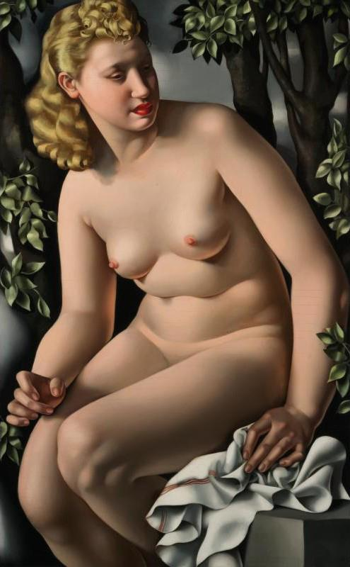 타마라 드 렘피카 누드 소녀 -5 홈 인테리어 지에 handpainted HD는 오일 캔버스 벽 예술 캔버스 그림 191128에 그림을 인쇄하기