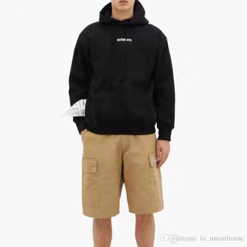 19FW VETEMENTS 2020 Sonbahar Kış Hoodie Etiket Mektup LOGOSU Baskılı Kazaklar Moda Kapüşonlu Sweatshirt Highstreet Dış Giyim