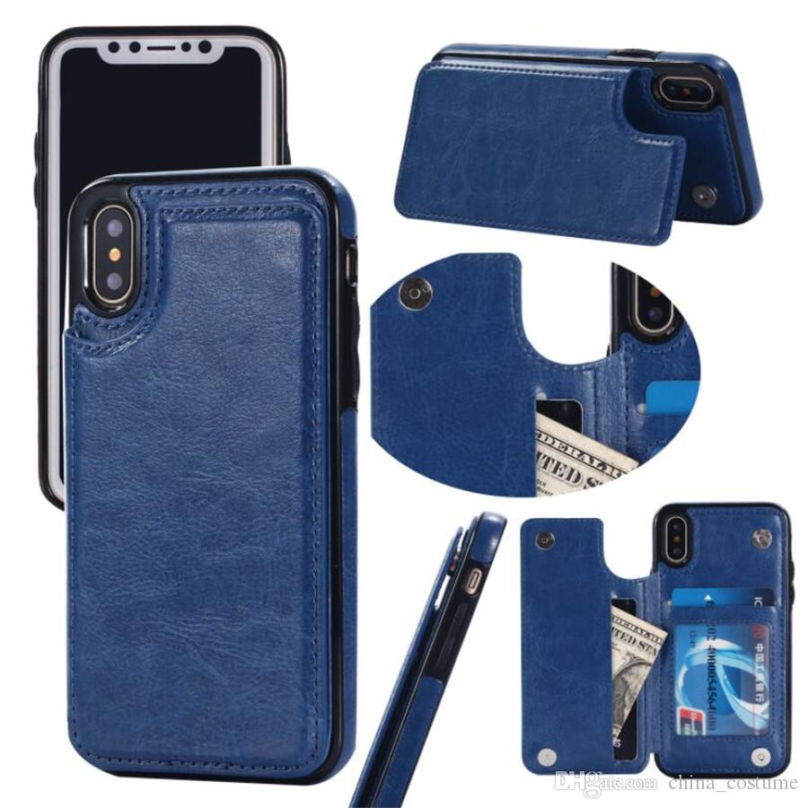 Multi-function card wallet leather phone case FOR:iphone Samsung Galaxy 6s 7 8 x xr xs max s8 s9 note 8 9 plus