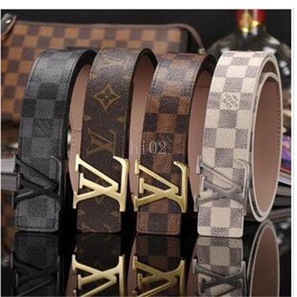 Мода полосы шаблон Big пряжки Мужские дизайнерские ремни Европейский стиль поясами высокого качества натуральной кожи женщин пояса с коробкой