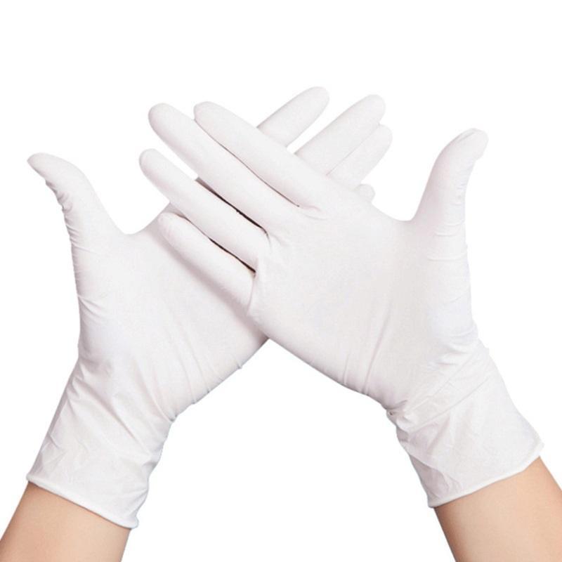 Yeni Tek toz ücretsiz zerre beyaz nitril eldiven ev sıhhi temizlik eldiveni ev lekeye karşı direnç eldivenler T3I5776