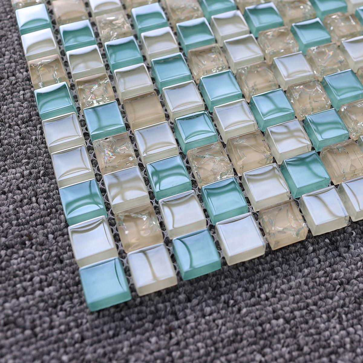 2021 Blue Beige Crackle Glass Mosaic Wall Tile Kitchen Backsplash Jmfgt082 15x15mm Crystal Glass Mosaic Bathroom Wall Tiles From Sophie Charm 15 87 Dhgate Com