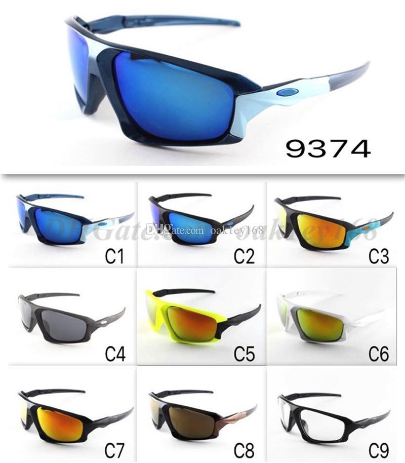 Hot Brand Designer Sunglasses Fashion Men And Women Sunglasses 9374 UV400 Protection Sport Vintage Sun Glasses Eyewear
