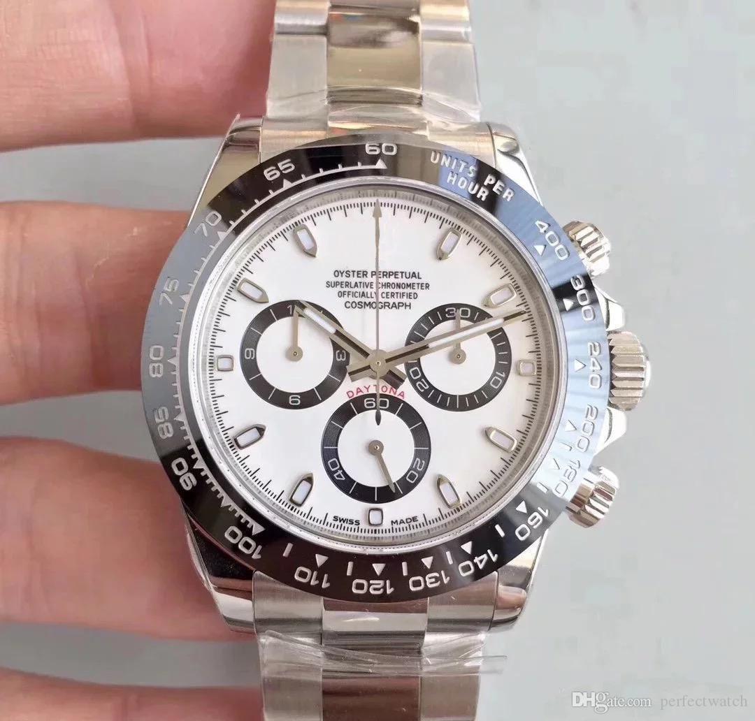 2020 Yeni Erkek Otomatik Hareket Saatleri Safir Cam Üst Serisi M116519 Basit Gümüş Dial Çelik Kayış Usta Kol saatı