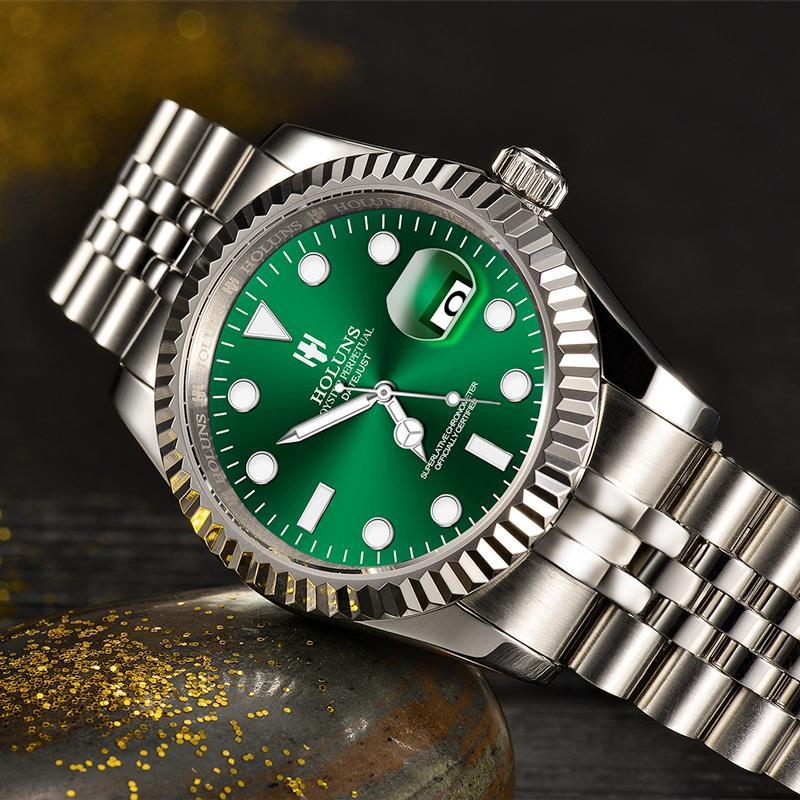 2019 drop shipping holuns top marca homens miyouta relógio de quartzo moda luxo aço inoxidável macho relógio relogio masculino
