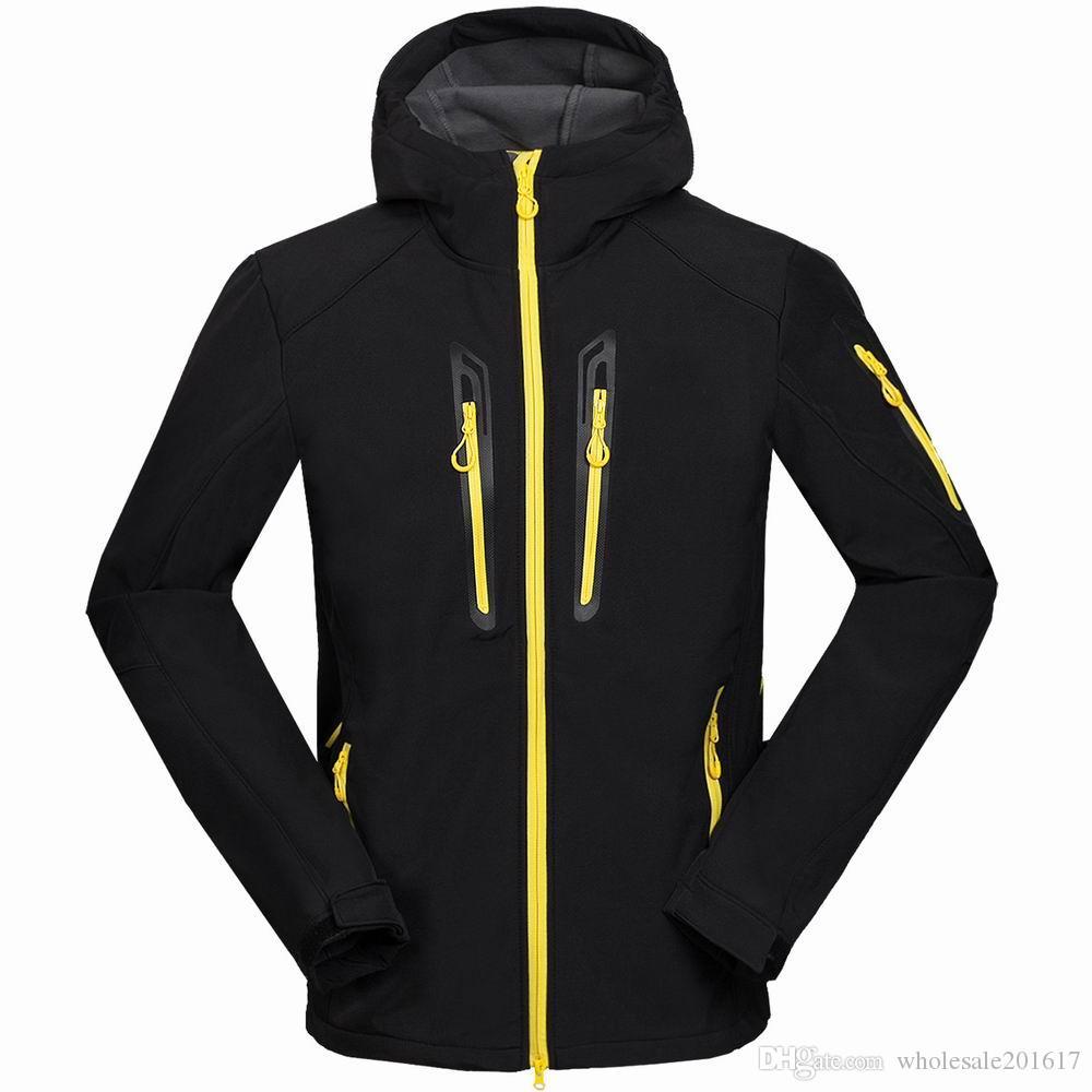 nuovi uomini HELLY giacca invernale con cappuccio Softshell per antivento e impermeabile morbido cappotto Shell Jacket HANSEN Giacche Cappotti 16151