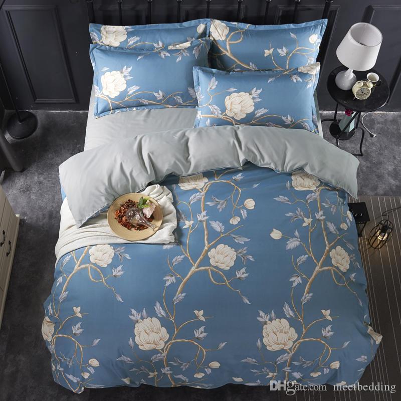 Classical Luxury Tamanho fundamento Rainha Set Rei Twin com Consolador bonito Pattern Cubra Set presente para as meninas Crianças de cama Set Tampa