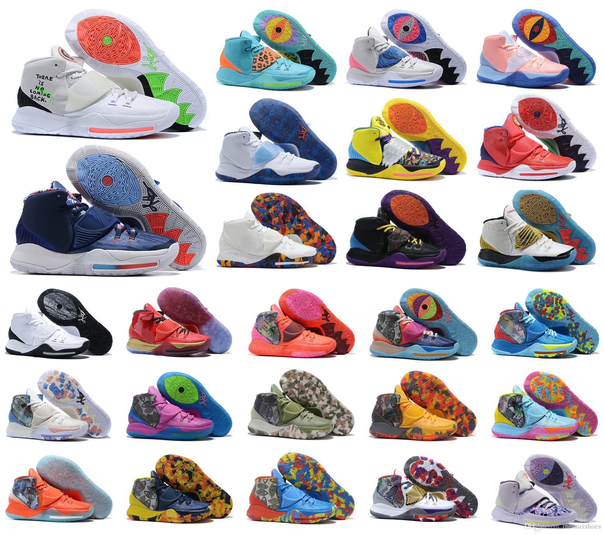 2020 Новое прибытие мужчин Кирие VI Mens Basketball обувь Ирвинг 6S 6 Мальчики Женщины Увеличить Спорт Кроссовки 7-12