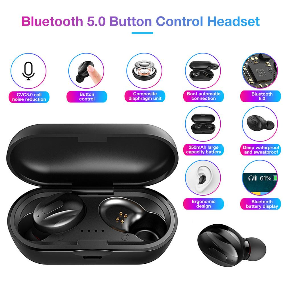 XG13 TWS Mini Wireless Bluetooth 5.0 Earbuds Earphones In Ear Stereo Headset Headphone with Charging Box for All Phone Universal