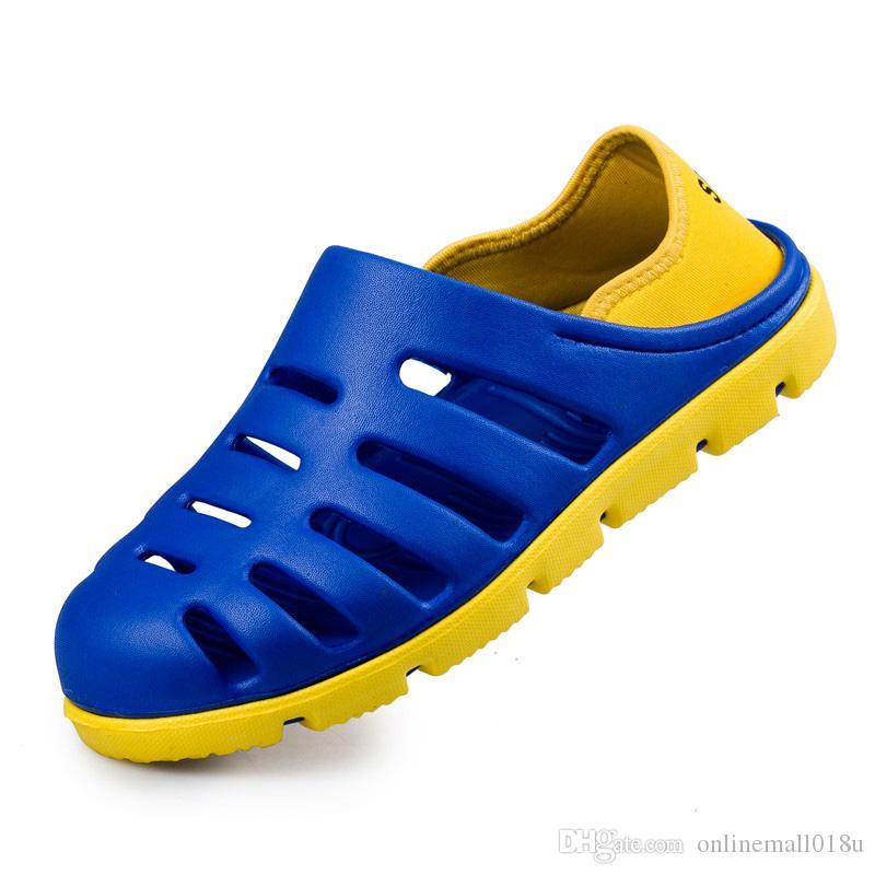 Мужчины Сандалии Летние Мужчины Пляжные Тапочки Мулы Сад Сабо Обувь Мужчины Повседневная Тапочки Открытый Тапочки Мода Сандалии