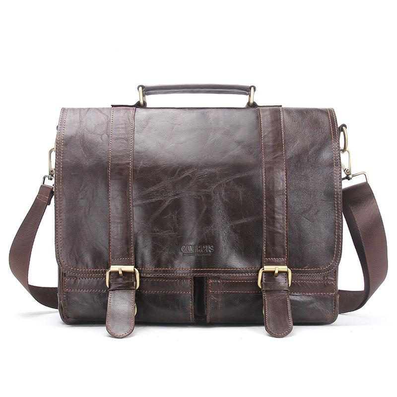 Mens Business Leather Messenger Bags Shoulder Bag Satchel Handbag Briefcase Bags