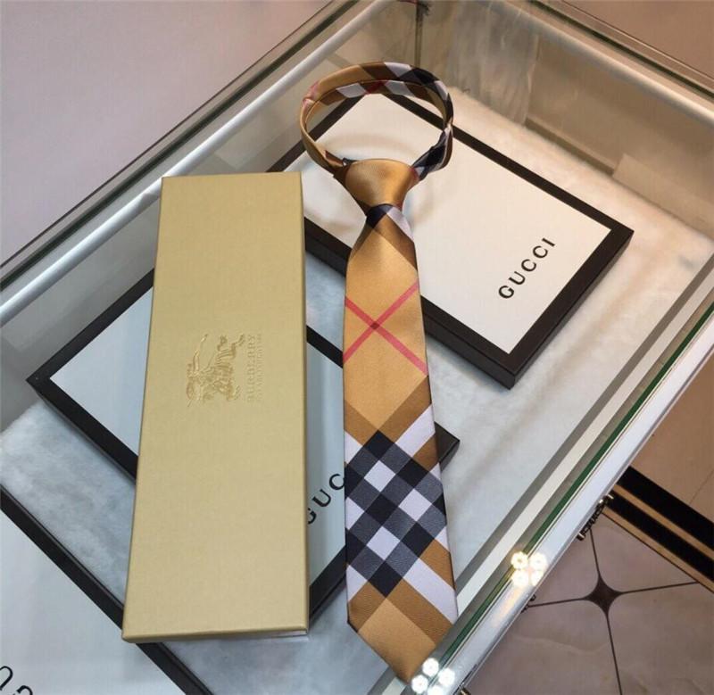 상자 고급 남성 실크 넥타이 실외 일 당 공식 행사에 넥타이 선물 무료 배송과 함께 격자 무늬 패턴 넥타이