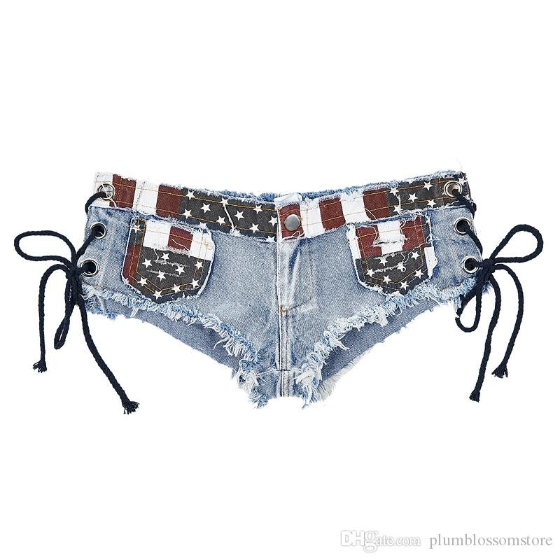 Женщины джинсовые джинсы шорты летние дамы супер короткие джинсы ночной клуб панк уличная сексуальная низкая талия отверстие танцы короткие брюки горячие брюки новый