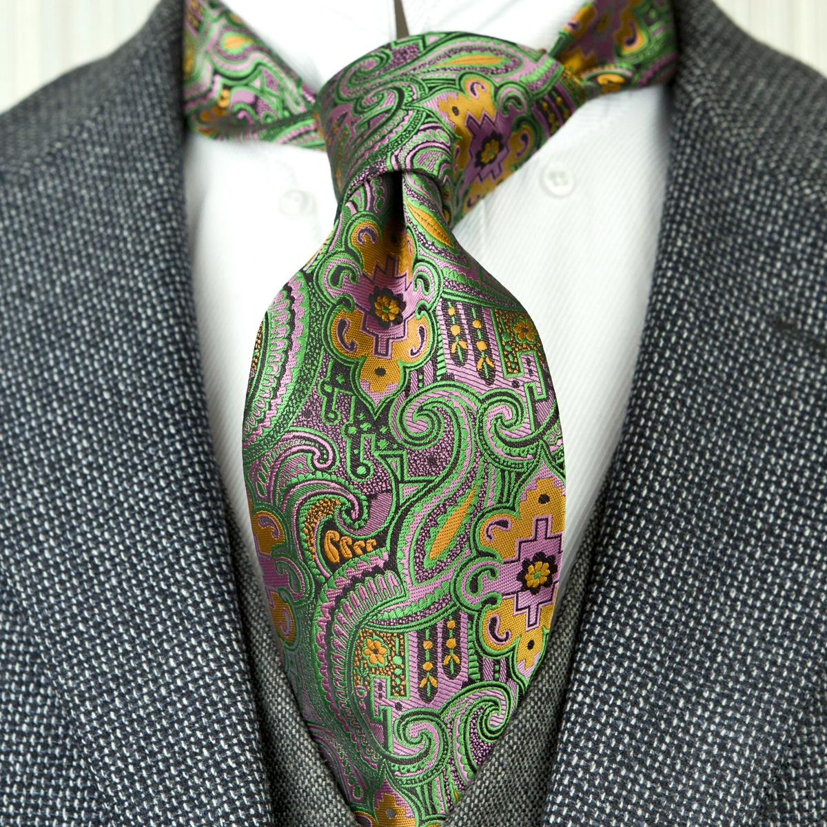 Free Shipping F26 Multicolor Green Orange Pink Pattern Floral Mens Ties Neckties 100% Silk Jacquard Woven Attractive Brand New Handmade