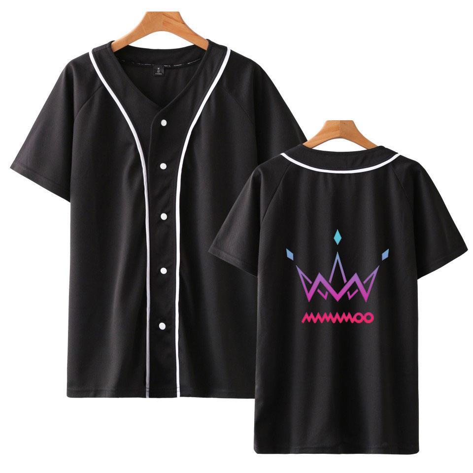 2019 MAMAMO Club Korean Team نفس نمط قميص البيسبول للرجال والنساء ملابس فضفاضة عارضة المتناثرة تي شيرت