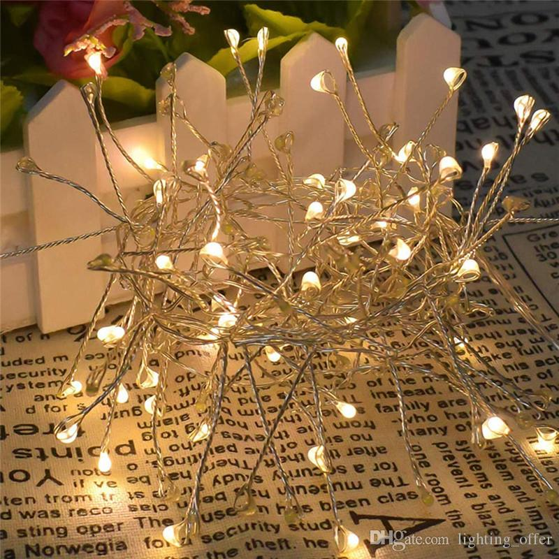 5M 200LEDS Lamp string Cluster Fairy Lights Firecrackers Starry String Garland Waterproof Christmas Holiday Decoration Indoor/Outdoor