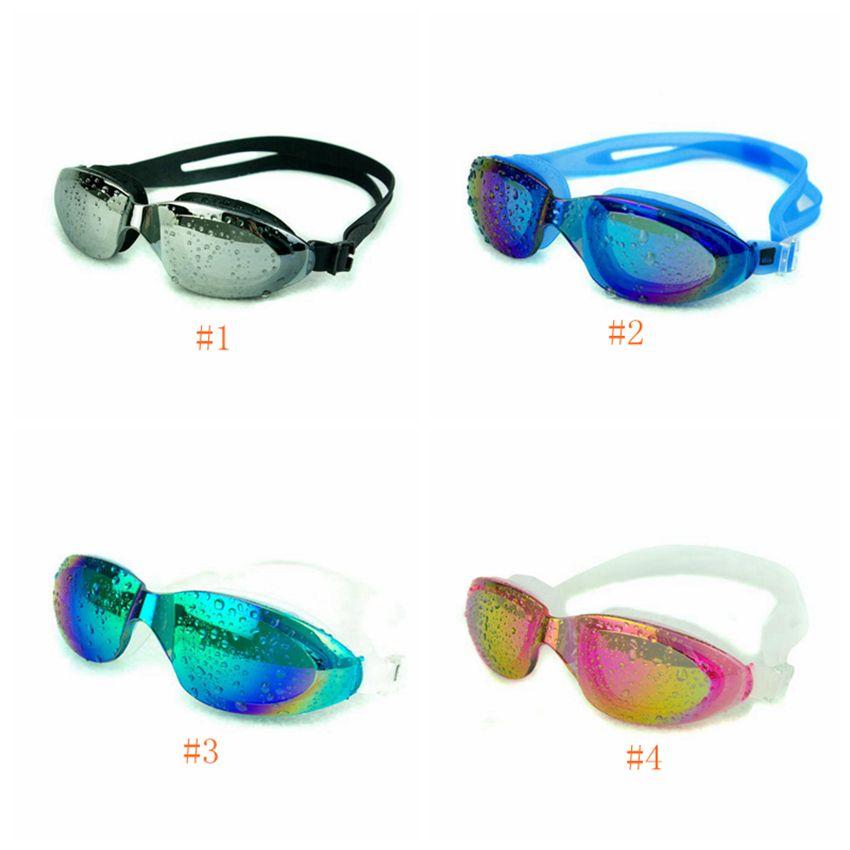 جديد نظارات السباحة الرجال النساء نظارات السباحة للماء ومكافحة الضباب فوق البنفسجية نظارات السباحة نظارات السباحة الكبار LJJZ487