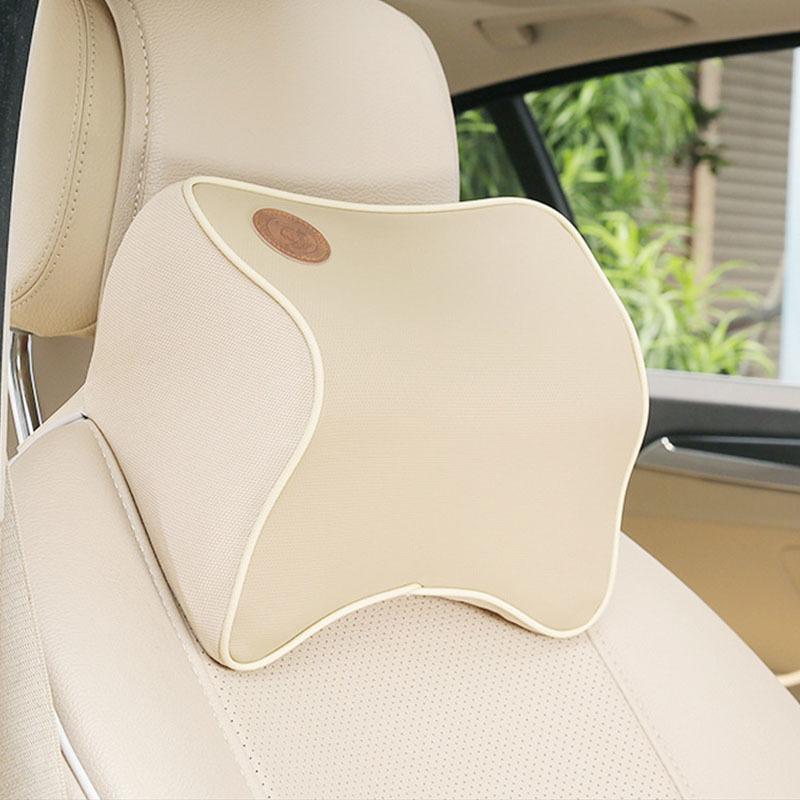 Dongzhen 1x Auto Car Cuscino Spazio Memory Foam Tessuto Collo Poggiatesta Copertura Auto Seggiolino Auto Cuscino Poggiatesta Collo Accessori C19041201
