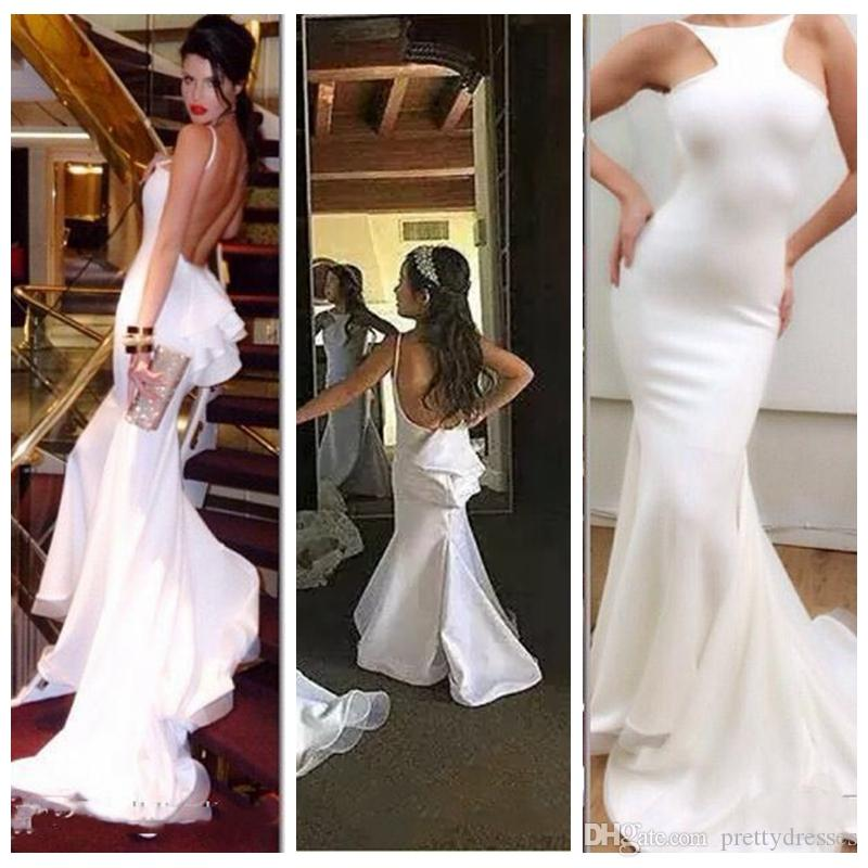 Sexy Backless Slim Mermaid Prom Party Gowns Mother And Daughter Matching Dress Best Fitted Kids Flower Girls Dress Customized 2020 Formal