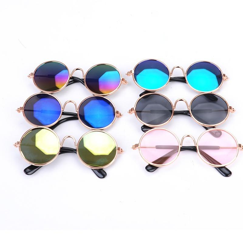 1PC Lovely Pet Cat Glasses Dog Glasses Pet Products Kitty Toy Dog Sunglasses Photos 3 cm Pet Accessoires Round Colorful 2020