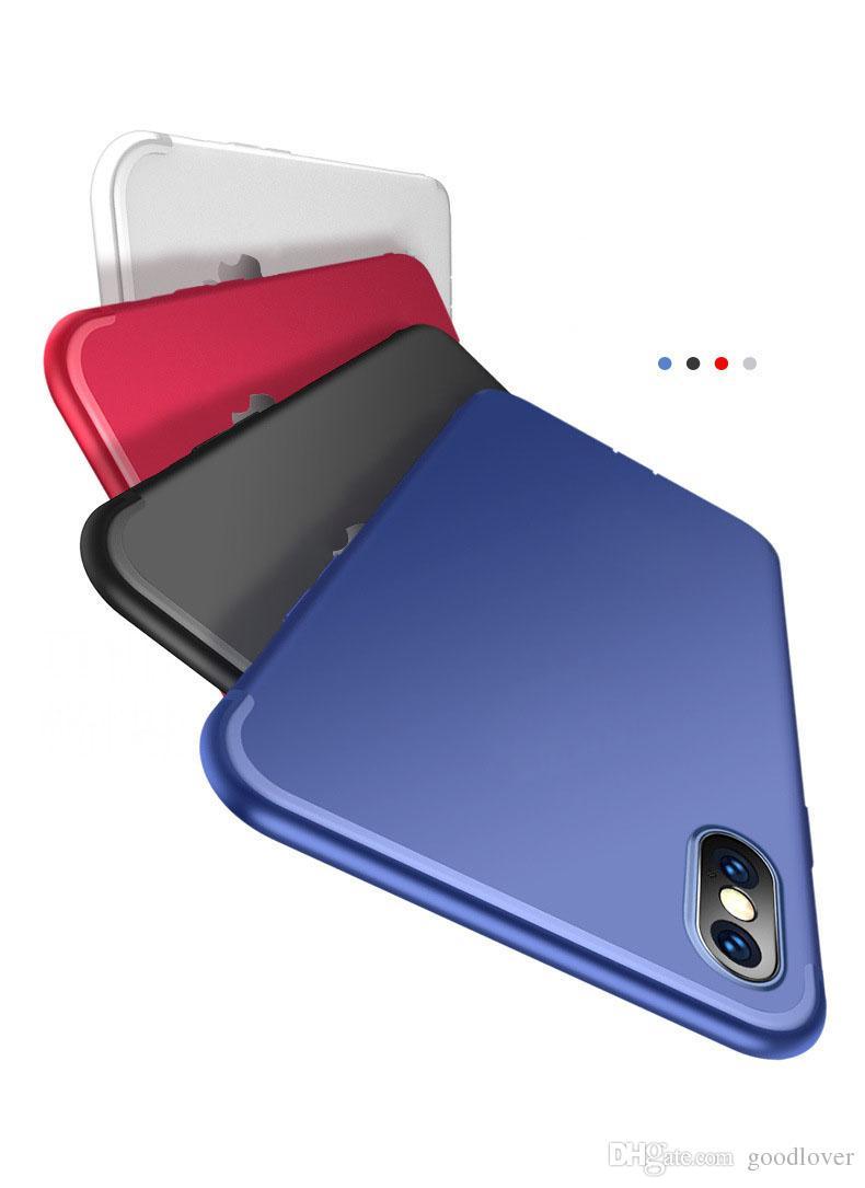Neue Luxus-dünne Silikon-Kasten für iPhone 11 XS Max XR 8 7 5 Abdeckung schwarz Soft-Matt-TPU Telefon-Kasten für iPhone 6Plus