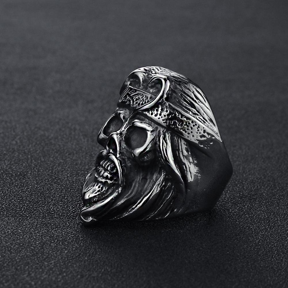 2020 neue europäische und amerikanische Kreative Reise nach Westen Männer und Frauen Paar Ring Monkey King-Kopf-Ring europäische und amerikanische Hand Jewel
