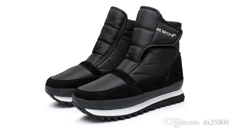Зимняя обувь женская обувь 2019 моды твердые водонепроницаемые ботинки женщина hookloop ботинки теплые плюшевые снег женщин сапоги