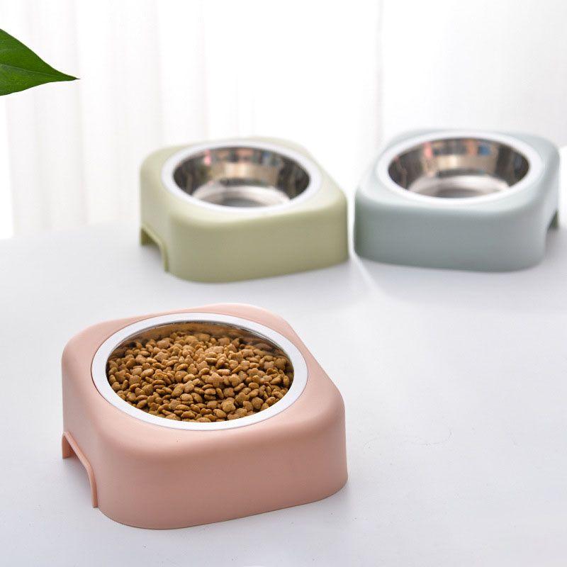 Ciotola per animali staccabile in plastica Cane Alimentatore di base per cani Cani Gatti Bottom Water Bowl Cucciolo Alimentatori per gatti Forniture per l'alimentazione